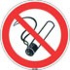 Niet rokenstickers 6 van 5 cm rookverbod