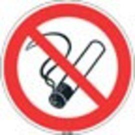 Niet roken bordje kunststof 20 cm set 5 stuks