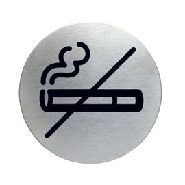 Roken verboden RVS bordje zelfklevend