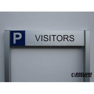 Parkeerbord Visitors op 2 palen compleet met tekst