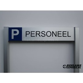 Parkeerbord Personeel op 2 palen compleet met tekst