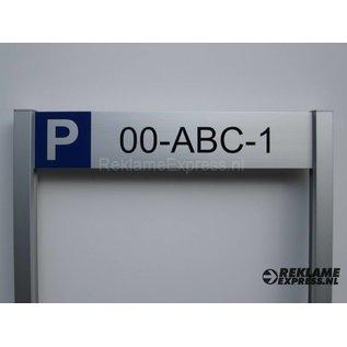 Parkeerbord Kenteken op 2 palen compleet met tekst