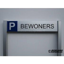 Parkeerbord Bewoners op 2 palen compleet met tekst