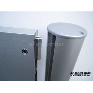 Parkeerbord Personeel luxe frame paneel 10x50 cm en 2 palen