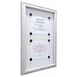 Informatievitrine, wandvitrine 55x40 cm. 29 mm. dik A3 Tradition.