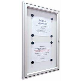 Informatievitrine, wandvitrine 75x105 cm 29 mm. dik A1 Tradition