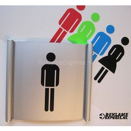 Toiletbordje Herentoilet wandmodel systeem P