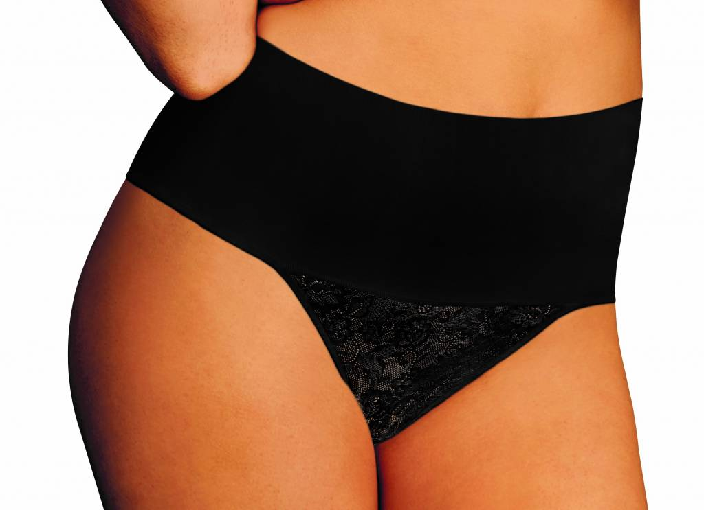 Tame your Tummy Thong  Maidenform | Black | Lace