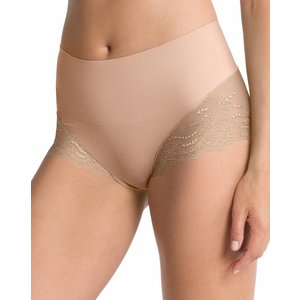 Hi-Hipster Lace Undie-Tectable | Soft Nude