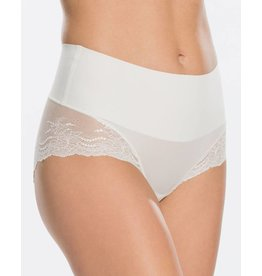 Hi-Hipster Lace Undie-Tectable | White