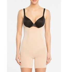 Oncore Open Bust Mid Tigh Bodysuit | Nude