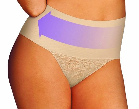 Tame your Tummy Lace  String  Maidenform    Nude