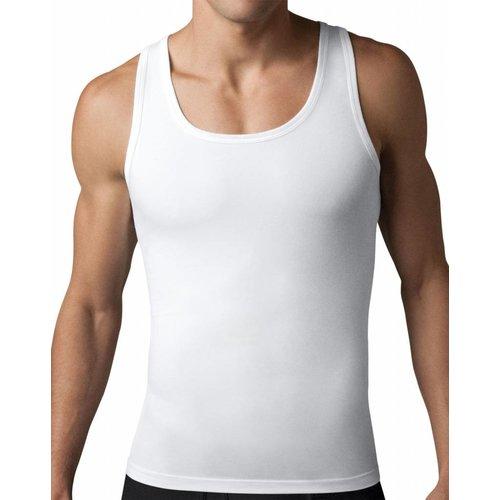 Cotton Compression Tank | White