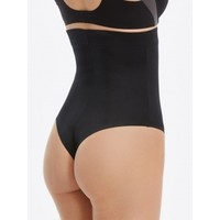Suit Your Fancy High-Waisted Thong | Black