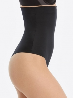 Suit Your Fancy High-Waisted Thong Spanx  | Black