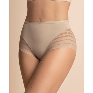 Lace Stripe Undetectable Slip | Nude