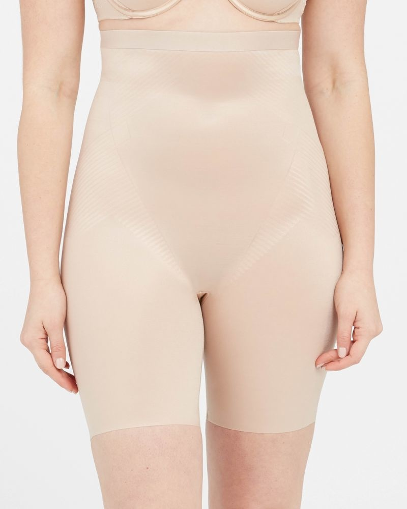 Thinstincts 2.0 High Waisted Mid Thigh Short SPANX   Soft Nude