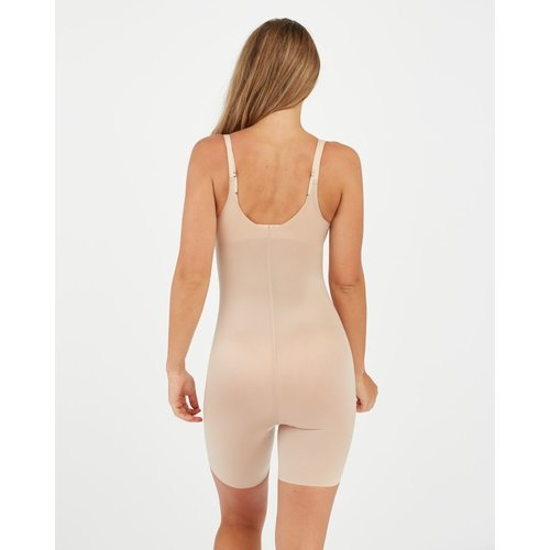 Thinstincts 2.0 Open-bust Mid Thigh Bodysuit SPANX | Soft Nude