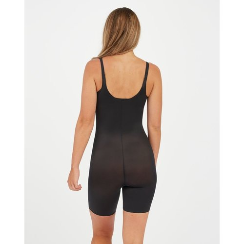 Thinstincts 2.0 Open-bust Mid Thigh Bodysuit SPANX | Black