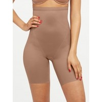 Thinstincts 2.0 High Waisted Mid Thigh Short | Dark Nude