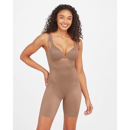 Thinstincts 2.0 Open-bust Mid Thigh Bodysuit SPANX | Dark Nude