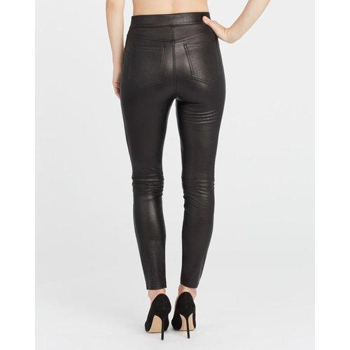 Leather Like Ankle Skinny Pant | Zwart