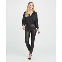 Leather Like Ankle Pant | Schwarz