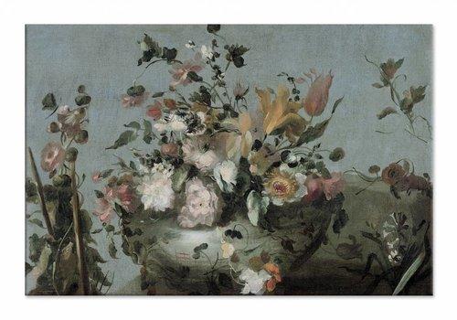 Bloemen • liggende afdruk op canvas