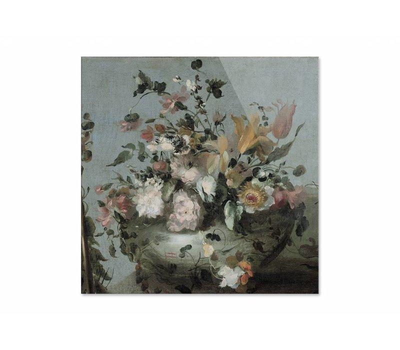 Bloemen • vierkante afdruk op plexiglas