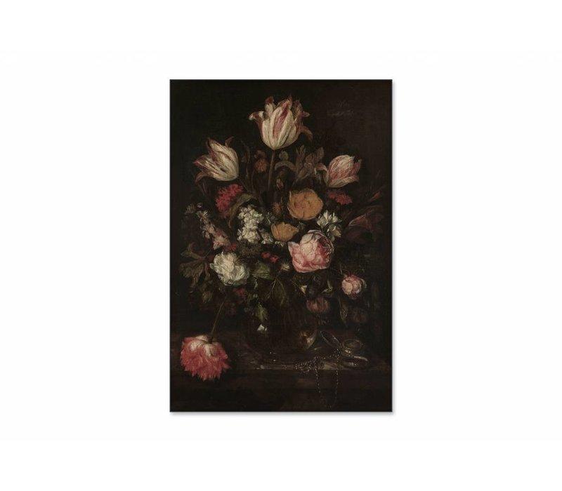 Stilleven met bloemen1 • staande afdruk op textiel