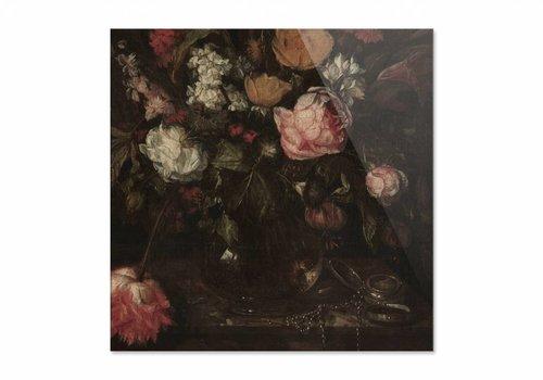 Stilleven met bloemen1 • vierkante afdruk op plexiglas