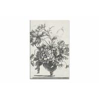 Glazen vaas met bloemen • staande afdruk op canvas