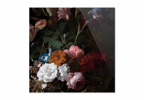 Vaas met bloemen3 • vierkante afdruk op plexiglas