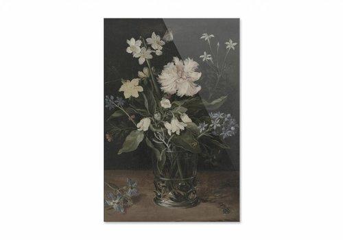 Stilleven met bloemen in een glas • staande afdruk op plexiglas