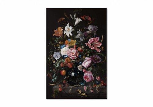 Vaas met bloemen2 • staande afdruk op canvas