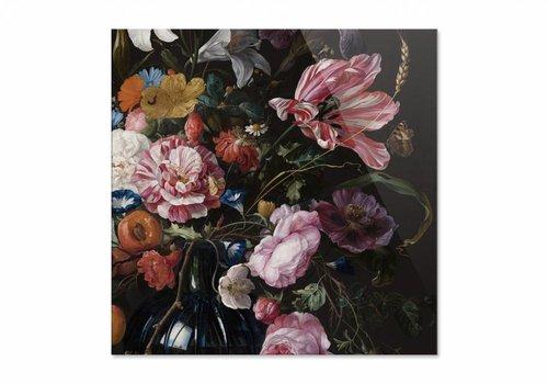 Vaas met bloemen2 • vierkante afdruk op plexiglas