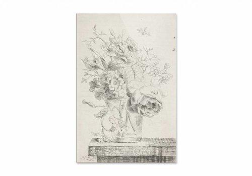 Vaas met bloemen1 • staande afdruk op plexiglas