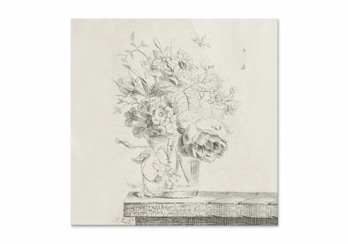 Vaas met bloemen1 • vierkante afdruk op plexiglas
