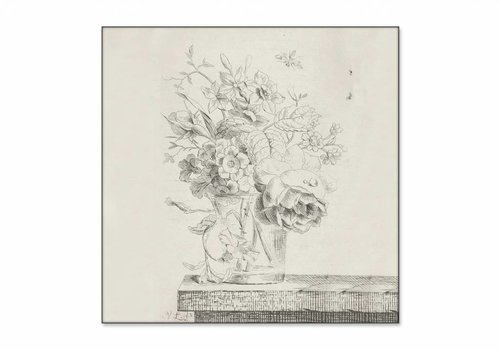 Vaas met bloemen1 • vierkante afdruk op textiel