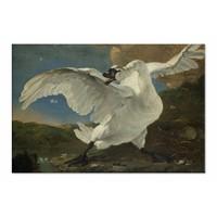 De bedreigde zwaan • liggende afdruk op canvas