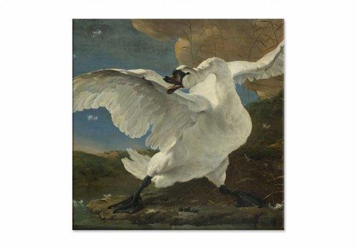 De bedreigde zwaan • vierkante afdruk op canvas