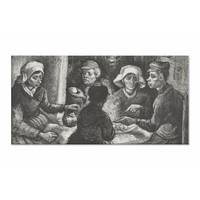Aardappeleters • liggende afdruk op canvas