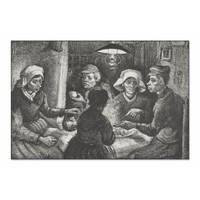 Aardappeleters • liggende afdruk op textiel
