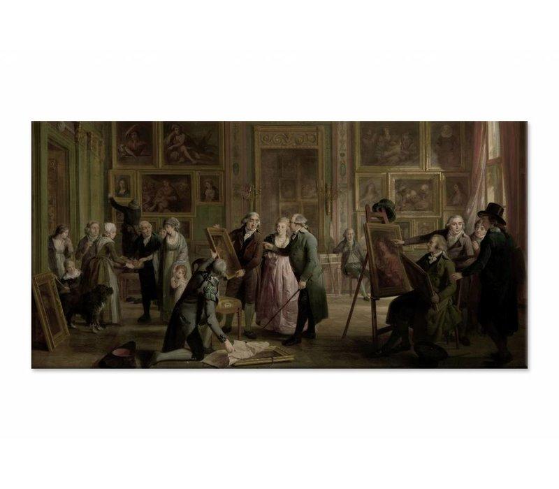 De kunstgalerij van Josephus Augustinus Brentano • liggende afdruk op canvas