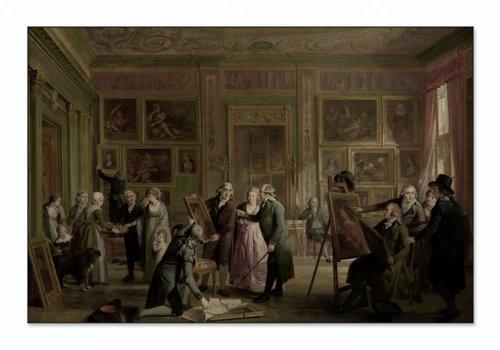 De kunstgalerij van Josephus Augustinus Brentano • liggende afdruk op textiel