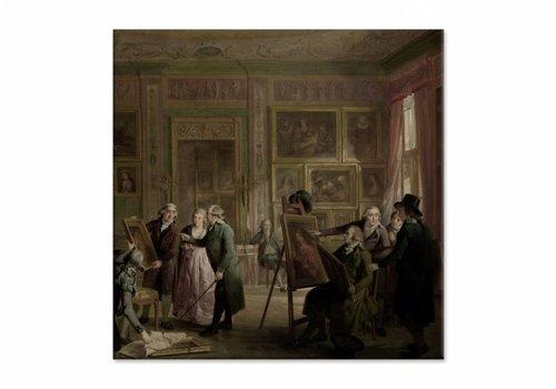 De kunstgalerij van Josephus Augustinus Brentano • vierkante afdruk op canvas