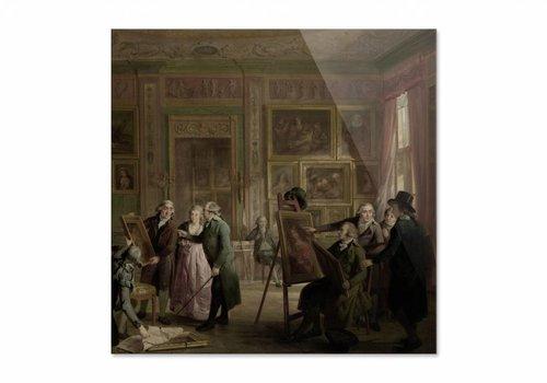 De kunstgalerij van Josephus Augustinus Brentano • vierkante afdruk op plexiglas
