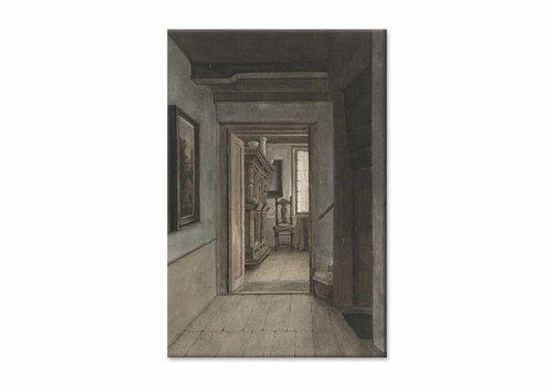 Binnenhuis 1 • staande afdruk op canvas