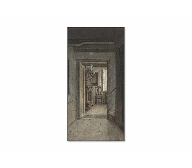 Binnenhuis 1 • staande afdruk op textiel