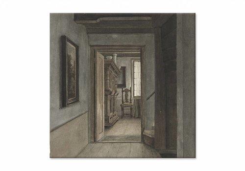 Binnenhuis 1 • vierkante afdruk op canvas